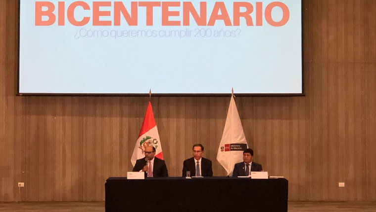 Presidente Vizcarra y ministro Alfaro presentan el Pacto Nacional por la Educación al Bicentenario
