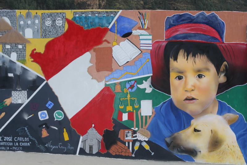 Foto: Murales de la Libertad. IE José Carlos Mariátegui. Mural: Como quiero que sea mi país. Alumno: Neyra Cruz Pope. Artista colaborador: Kenjy Fernández.