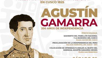 Recordando a Agustín Gamarra, Cusco conmemorará los 196 años de su independencia
