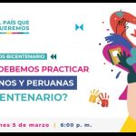 Proyecto Bicentenario presenta encuentro virtual para hablar de valores y cómo ser mejores ciudadanos
