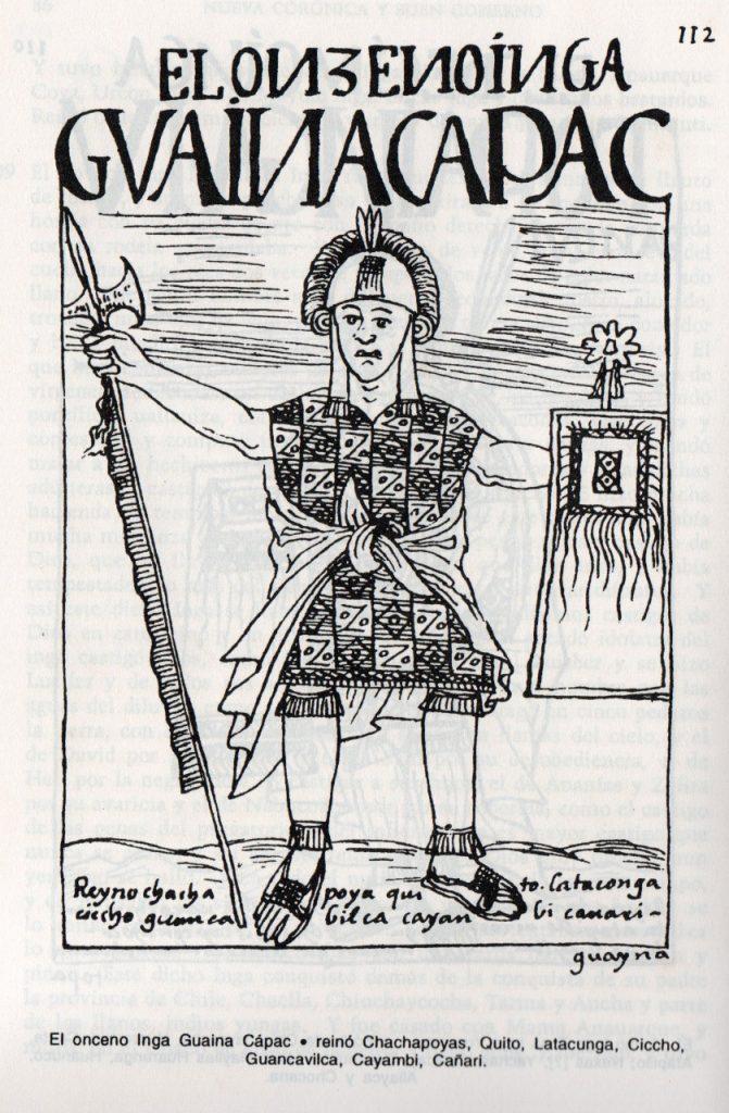 Ilustración de Huayna Cápac Inga.