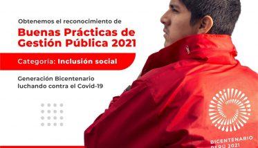 Voluntariado del Proyecto Bicentenario obtiene certificación como Buena Práctica en Gestión Pública 2021