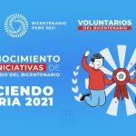 Proyecto Bicentenario lanza concurso «Haciendo Patria 2021» para reconocer acciones de voluntariado