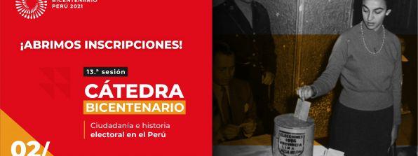 Cátedra Bicentenario abordará la historia electoral en el Perú